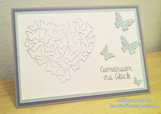 selbstgemacht kreativ DIY Karte Card Hochzeit Glückwunsch Stampin' Up! Schmetterling memory box