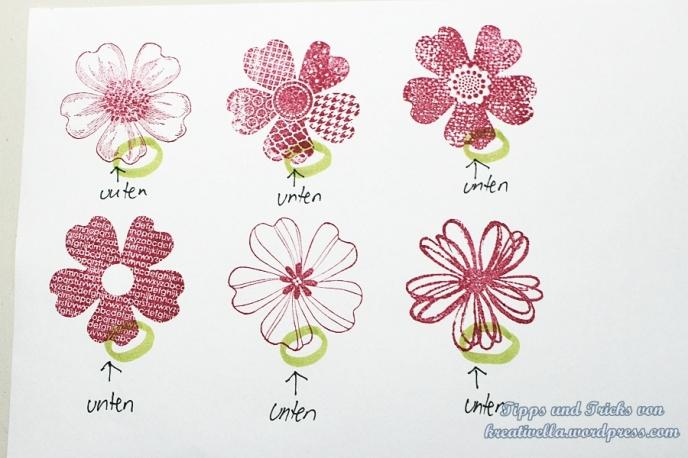 Anleitung Stampin' Up! Handstanze Stiefmuetterchen Flower Shop Trick Tipps