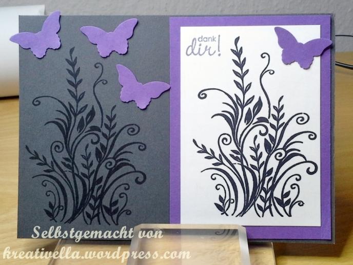 Dankekarte selbstgemacht kreativ DIY Karte Card Danke Thank Butterfly Schmetterling Stampin' Up!