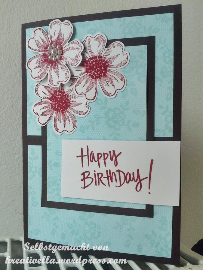 Flower shop blumen und i love lace spitze kreativella for Selbstgemachte geburtstagskarten
