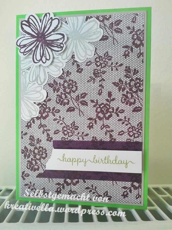 selbstgemacht kreativ DIY Karte Card Geburtstag Birthday Glückwunsch Stampin' Up!