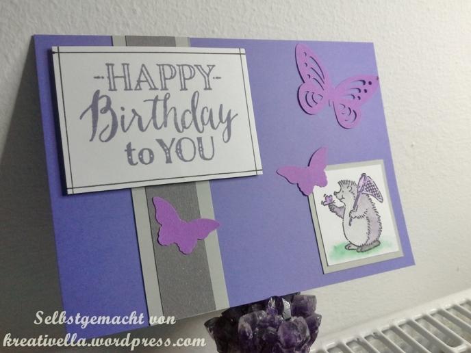 Geburtstagskarte selbstgemacht kreativ DIY Karte Card Geburtstag Birthday Glückwunsch Stampin' Up! mit Cute critters und Schmetterlingen