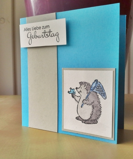 Geburtstagskarte selbstgemacht kreativ DIY Karte Card Geburtstag Birthday Glückwunsch Stampin' Up! mit Cute critters
