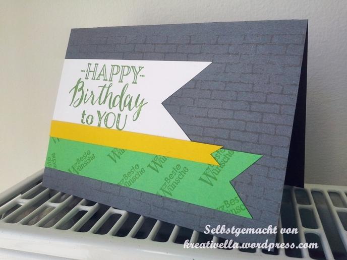 Geburtstagskarte männlich Mann simple und schlicht Happy Birthday Geburtstagscandy Rollimausselbstgemacht kreativ DIY Karte Card Geburtstag Birthday Glückwunsch Stampin' Up!