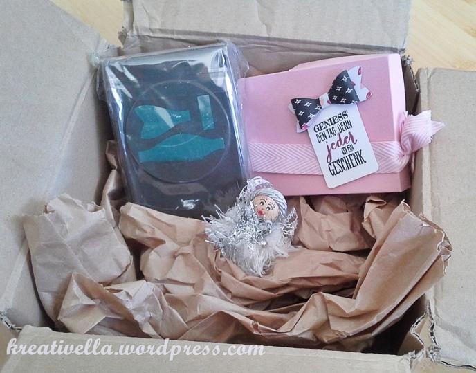 Paket Bastelatelier liebevoll gepackt Elementstanze Schleife Handstanze von Stampin' Up!