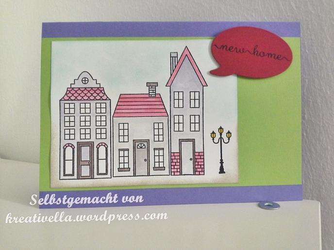 Aus dem haeuschen - selbstgemacht kreativ DIY Karte Card Umzug new home Stampin' Up!