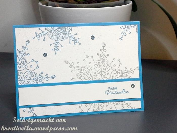 Weihnachtskarte Schneeflocke christmas card