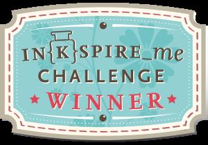 Inkspire me Challenge Gewinner Badge
