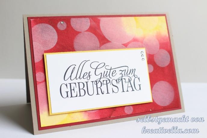 Geburtstagskarte Bokehkarte Gastgeberinnenset Geburtstagsgrüße für alle