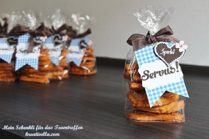 Stampin' Up! Teamtreffen Schenkli Geschenk Swap Tauschobjekt Wiesn Oktoberfest Kleinigkeit Goodies gebastelt DIY