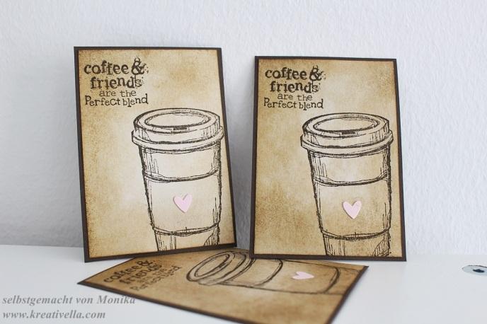 ATC Artist trading card Kaffee Coffee little sweet Kaffeepulver Espresso Heißgetränk Stampin' Up!