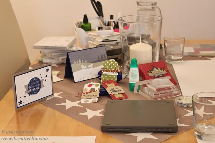 Stampin Up weihnachtlicher Bastelnachmittag