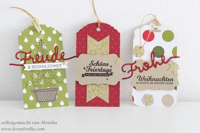 Workshop München Stampin' Up! Tags Etiketten Geschenkanhänger Ornate Tag Scalloped Tag gewellter Anhänger Weihnachtliche Worte