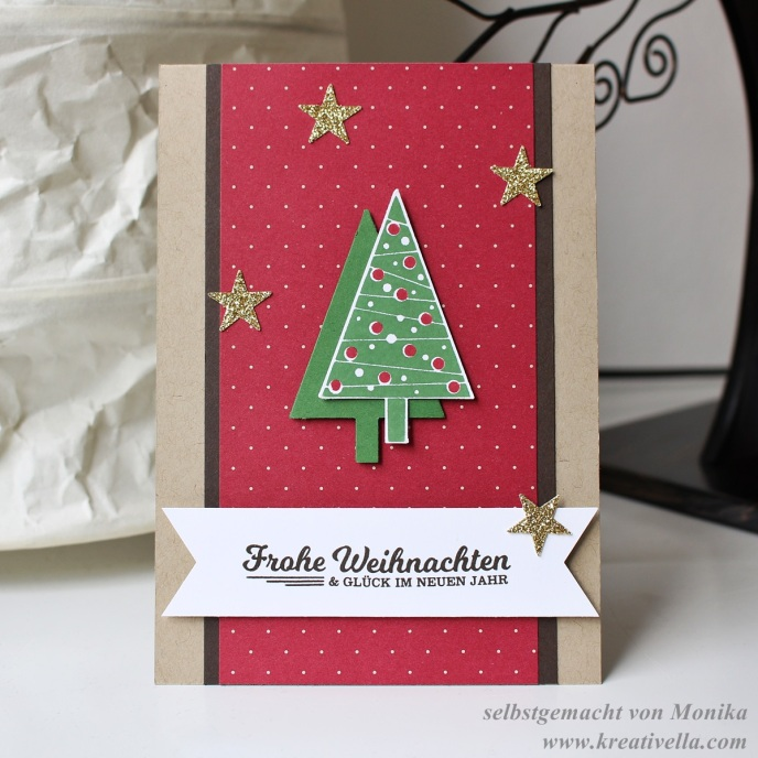 Weihnachtskarte Christbaumfestival Tannenbaum Schöne Feiertage selbstgemacht DIY Stampin' Up!