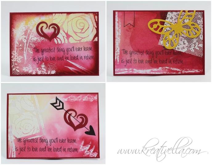 ATC Liebe Love Valentinstag romantisch Rosen Herzen Schmetterling schöner Spruch Quote Stampin' Up! Clearly besotted stamps Kreativella