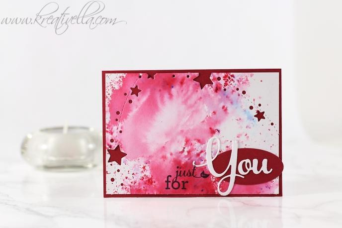 ATC just for you Mitgebsel sammelbestellerinnen sammelbestellung dankeschön kärtchen minikärtchen sternchen memory box kleinigkeit brushos brusho farben farbverlauf
