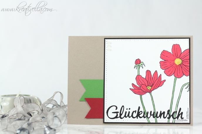 Helping me Grow Geburtstag Glückwünsche Karte Upline Marion Gissing Stampin' Up! Team watercolor coloriert Blumen