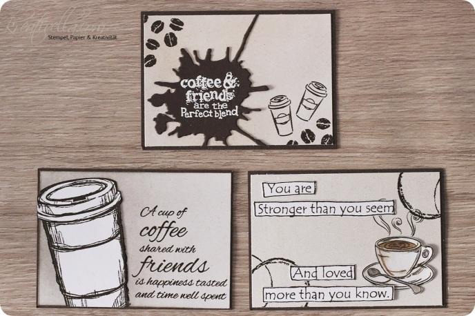 Coffee Lovers Kaffee Getränk ATC Kärtchen Heißgetränk heiße Liebe Tasse Lieblingsgetränk Minikarte Mitgebsel Braun Java Espresso Arabica Beans Bohne Latte Cappuchino hot beverage