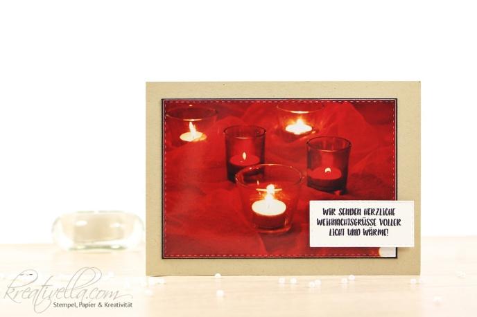 Licht und Wärme Weihnachtskarte Allerheiligen Winter kalt Heimelig cozy home Kerzenschein candles Besinnlichkeit Besinnung Ruhe warmth ausgestochen weihnachtlich Herbst