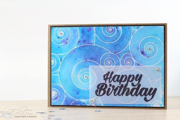 Geburtstagskarte Birthday Bright Schneckenhäuser Create a Smile Stampin' Up! 2017