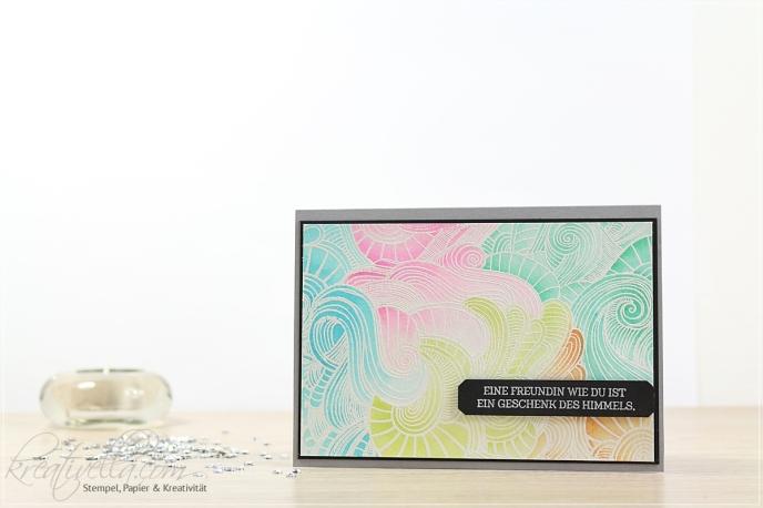 Geburtstagskarte DIY Stempel Embossing Emboss Resist Technik bunte Farben Auqarell Wassertankpinsel InColor Stampin' Up! München
