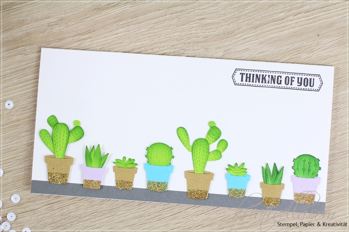 Kaktus Stanzen Marianne Design Karte Grußkarte Kakteen