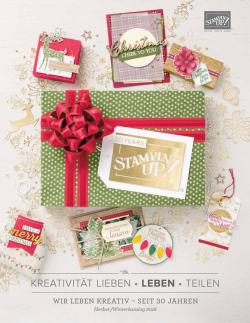 Stampin' Up! Herbstkatalog Winterkatalog Herbst-/Winter 2018